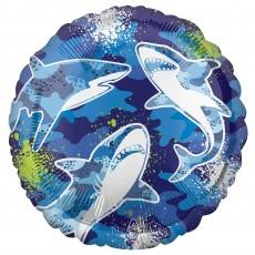 Shark Splash Party Decorations - Foil Balloon Sharks Standard HX