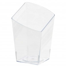 Clear Mini Catering Slanted Tumblers Plastic Glasses 65ml Pack of 10
