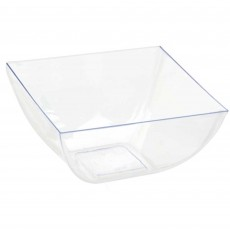 Clear Mini Catering Plastic Bowls 473ml Pack of 10