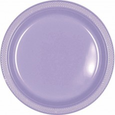 Lavender Lilac Plastic Lunch Plates