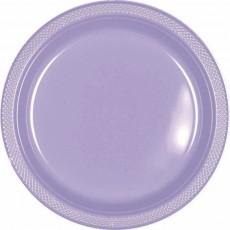 Lavender Party Supplies - Lunch Plates Plastic