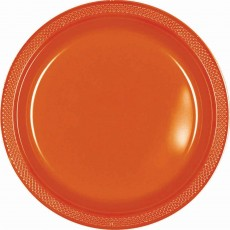 Orange Peel Plastic Lunch Plates