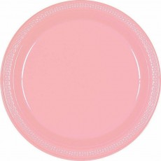 Pink New Plastic Lunch Plates