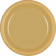 Gold Sparkle Plastic Lunch Plates