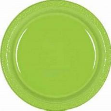 Green Kiwi Plastic Lunch Plates