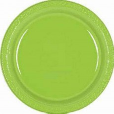 Kiwi Green Plastic Lunch Plates 17cm Pack of 20