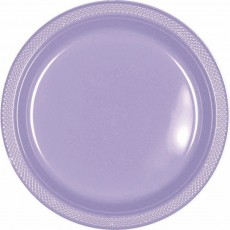 Lavender Lilac Plastic Dinner Plates