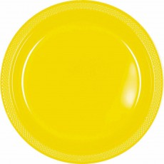 Yellow Sunshine Plastic Dinner Plates