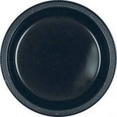 Black Jet Plastic Dinner Plates