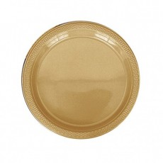 Gold Sparkle Plastic Dinner Plates