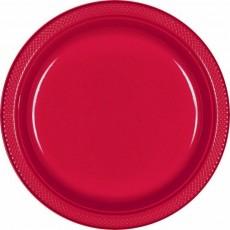 Apple Red Plastic Dinner Plates 22.9cm Pack of 20