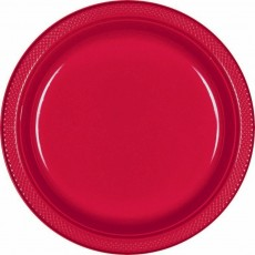 Red Apple Plastic Dinner Plates