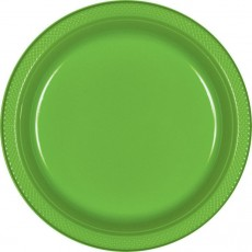 Green Kiwi Plastic Dinner Plates