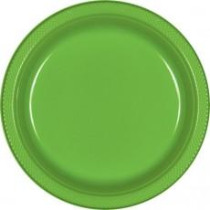 Kiwi Green Plastic Dinner Plates 22.9cm Pack of 20
