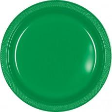 Green Festive Plastic Banquet Plates