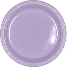 Lavender Lilac Plastic Banquet Plates