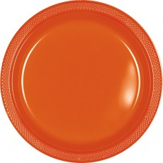 Orange Peel Plastic Banquet Plates