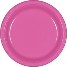 Pink Bright Plastic Banquet Plates