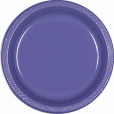 Purple New Plastic Banquet Plates