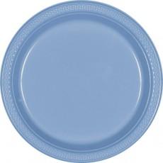 Blue Pastel Plastic Banquet Plates