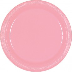 Pink New Plastic Banquet Plates