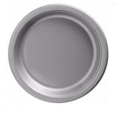 Silver Plastic Banquet Plates