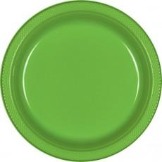 Kiwi Green Plastic Banquet Plates 26cm Pack of 20