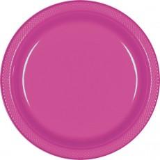 Magenta Plastic Banquet Plates