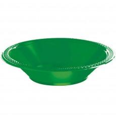 Festive Green Plastic Bowls 355ml Pack of 20