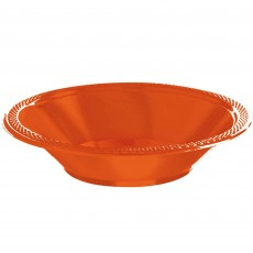 Round Orange Plastic Bowls 355ml Pack of 20