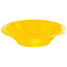 Yellow Sunshine Plastic Bowls