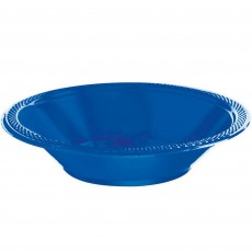 Round Royal Blue Plastic Bowls 355ml Pack of 20