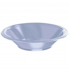 Round Pastel Blue Plastic Bowls 355ml Pack of 20