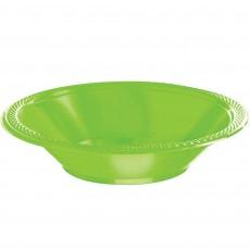 Kiwi Green Plastic Bowls 355ml Pack of 20