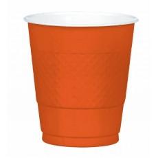 Orange Plastic Cups