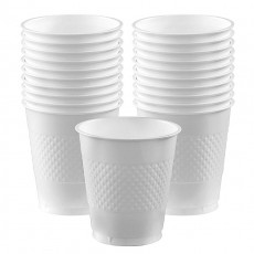 Frosty White Plastic Cups 355ml Pack of 20