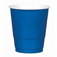 Royal Blue Plastic Cups 355ml Pack of 20