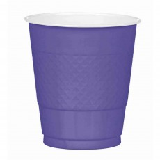 New Purple Plastic Cups 355ml Pack of 20