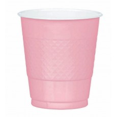 New Pink Plastic Cups 355ml Pack of 20