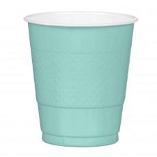 Robin's Egg Blue Plastic Plastic Cups 355ml Pack of 20