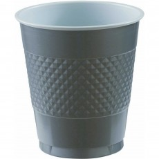 Silver Plastic Cups 355ml Pack of 20