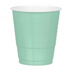 Cool Mint Green Plastic Cups 355ml Pack of 20