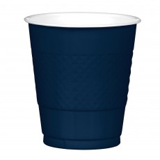 Navy Blue Plastic Cups 355ml Pack of 20