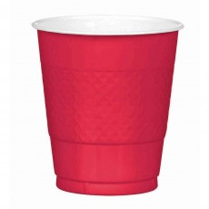 Apple Red Plastic Cups 355ml Pack of 20