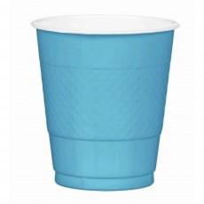 Blue Caribbean  Plastic Cups