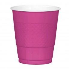 Magenta Plastic Cups