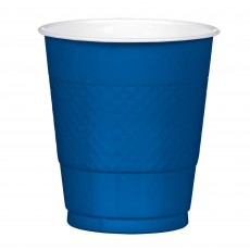 Navy Flag Blue Plastic Plastic Cups 355ml Pack of 20