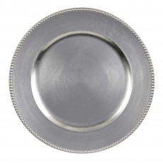 Silver Party Supplies - Tray Premium Charger Plate Metallic Silver