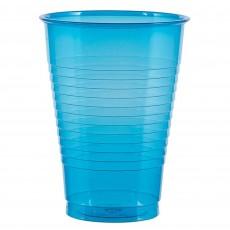 Blue Neon  Plastic Cups