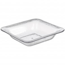 Clear Party Supplies - Bowl Premium Hammered Look Large Clear Square